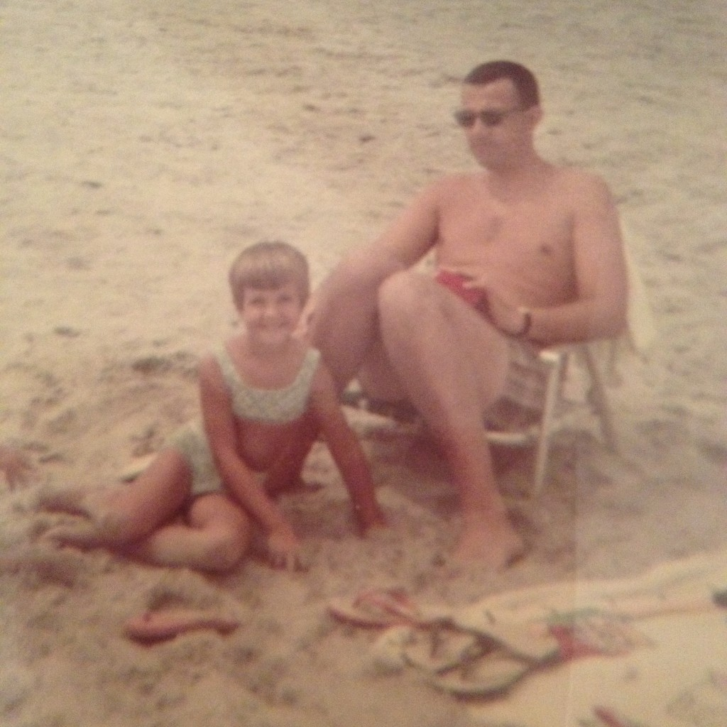 Sue Kirvan and her dad, 1970.