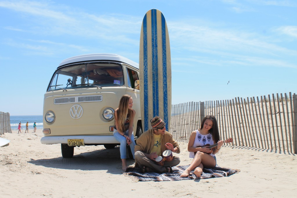 The Greene's and their van at 56th Street in Ocean City NJ