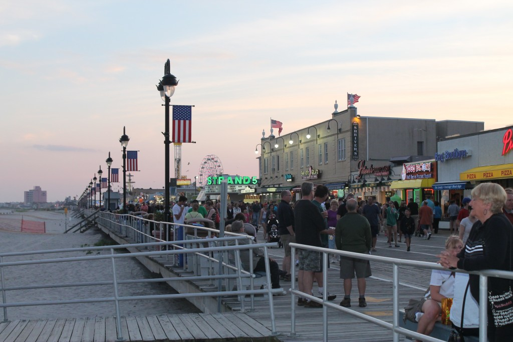 The Boardwalk in Ocean City NJ, photo by Josh Kinney