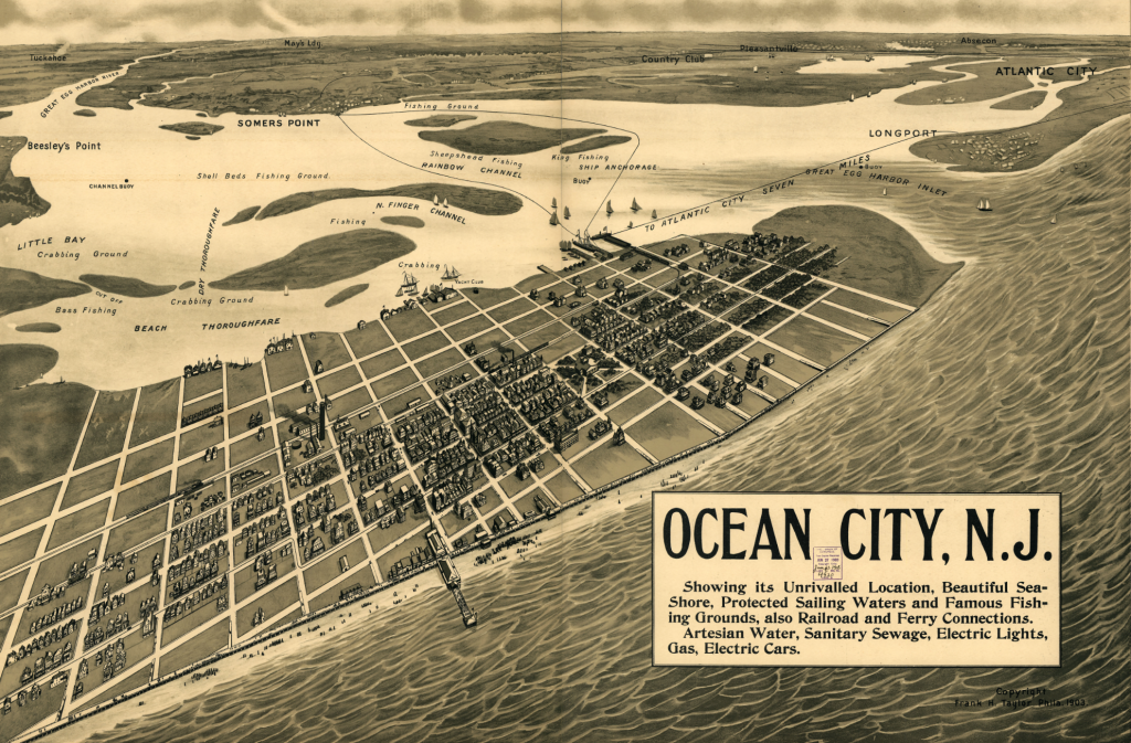 A map of OCNJ from The Ocean City Historical Museum
